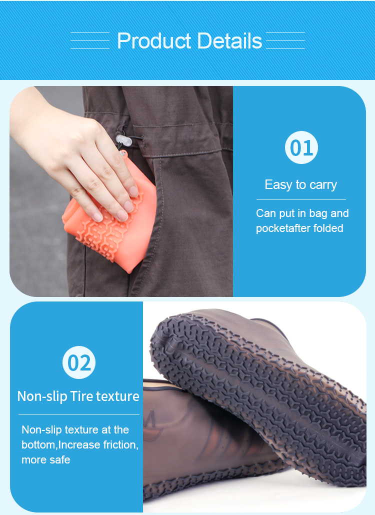 portable silicone shoe covers