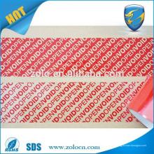Sellos de cinta de seguridad ampliamente utilizados OPEN VOID