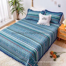 Hotel Bedding Steel Blue Bedspread Cover Full Size Soft All-Season