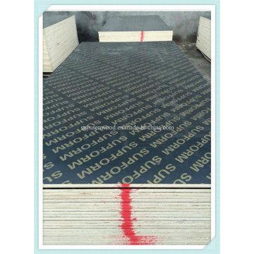 Чёрный/коричневый ламинированной фанеры, меламин клеем для фанера для опалубки бетона