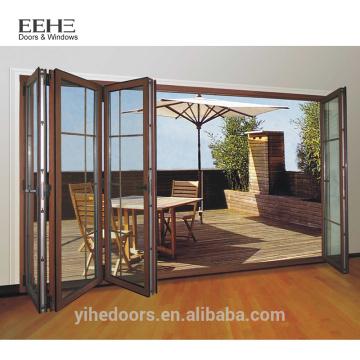Portes coulissantes en aluminium pliantes de taille personnalisée