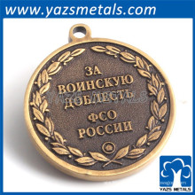 la galjanoplastia de bronce antigua graba la etiqueta del metal para el bolso
