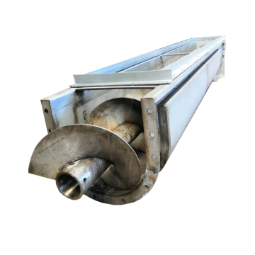 U -trough Shaft Screw Conveyor Untuk Bahan Pukal