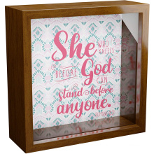 hot selling wholesale custom 8x8 walnut wood 3d shadow box frames square deep shadow display box shadow money boxes