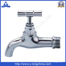 Полированный латунный водопроводной кран с латунной ручкой (YD-2024)