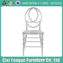 Wholesale Transparent Resin Plastic Phoenix Chair for Royal Wedding