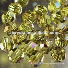 8MM Kristall facettierte runde Korne, Glasperlen für Kronleuchter, neue DIY lose Glas runde Korne