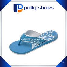 Womens Light Blue Thong Flats Flip Flop