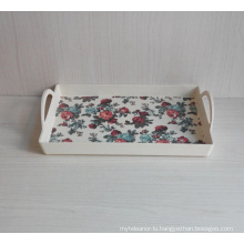 Bamboo Fiber Tableware Tray with Print (BC-TP1009)