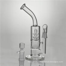 Honeycomb Disc Glass Smoking Water Pipes to Circle Showerhead (ES-GB-362)