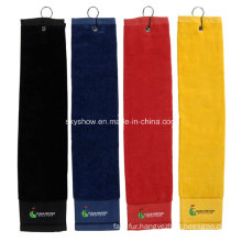 100% Cotton Golf Towel with Embroidery Logo (SST1016)