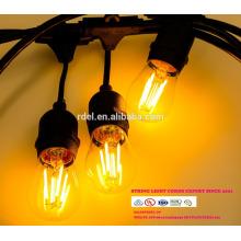 SL-13 chaîne de lumière globe g40 avec UL cordon d'alimentation et prise LED AMPOULES