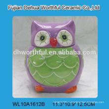 Сказочный дизайн керамической банки для животных с крышкой в форме совы