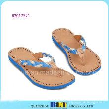 Chinelos de praia de céu azul para mulheres