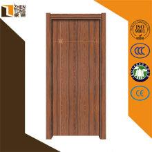 Dobradiça invisível / visível interior mdf chinês porta, fechaduras de correr para portas de madeira, mdf revestido pvc porta do armário