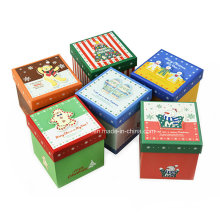 Classical Christmas Printing Paper Gift Boxes / Apple Packing Paper Boxes