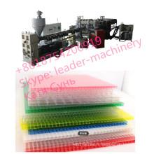 Ligne creuse d'extrusion de feuille de PC de polycarbonate, feuille solide de polycarbonate faisant la machine