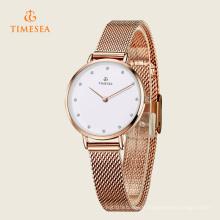 Montre-bracelet en acier inoxydable de luxe pour femmes Quartz 71129