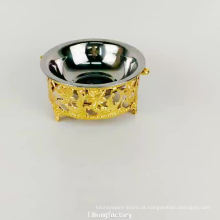 carrinho de ouro de luxo cão de aço inoxidável tigela de água tigela de alimentação pires
