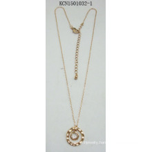 Metal Necklace with Circular Pendant Fashion Jewellery