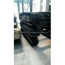 Trilho de borracha de aço Sistema de chassi de trilho de esteira de material rodante de esteira de 0,5 a 120 toneladas