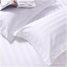 Capa de travesseiro de algodão listrada