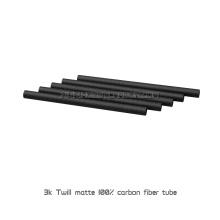 Tubo CRFP de polo de fibra de carbono puro de sarga 3K