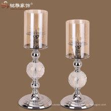 Tisch dekorative Kandelaber Votive Luxus Design Metall Glas Kerzenständer