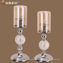 настольный декоративный подсвечник обету роскошный дизайн металл стекло подсвечник