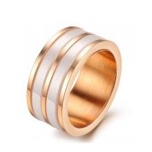anneaux de mariage de haute technologie en acier inoxydable de céramique