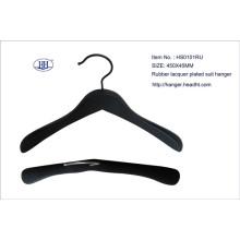 Wholesale Wooden Rubber Black Suit Hanger High Quality