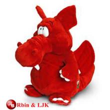 Meet EN71 and ASTM standard ICTI plush toy factory plush plush toy red dragon