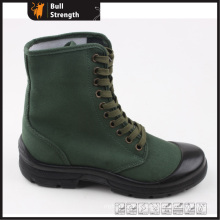 Industrial Safety Boots with Green Fabric Upper (SN5313)