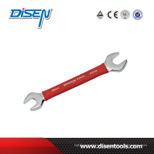 Mirror Polished Double Open End Wrench with Rubber Handle