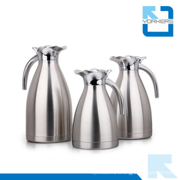 High Quality Stainless Steel Vacuum Coffee Pot & Kettle with Zinc Alloy Swivel Lid