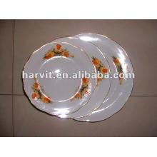 High Quality Round White & Variable Decor Cut Edge Porcelain Soup Plates