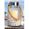 Nautical Glass Lantern with LED Candle
