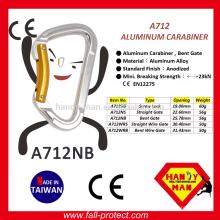 Certificado CE 23KN Carabinheiro de escalada de alumínio feito em Taiwan