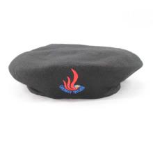 Boinas militares da lã preta de 100% (GK25-001)