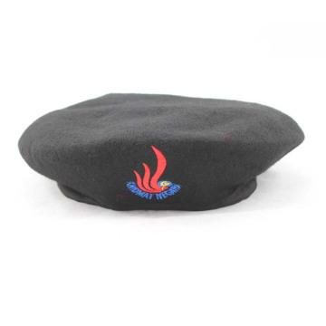 Воинский берет 100% черной шерсти (GK25-001)