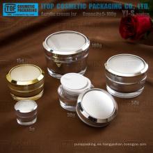 YJ-S serie 5g 10g 15g 30g 50g 100g lujo y hermosa cono envases de plástico acrílico