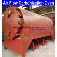 Terrones de carbón de leña Estufa de horno de cúpula de carbonización