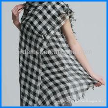 Popular Linen Grid Scarf Manufacturer