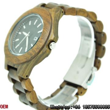 Reloj de madera caliente de la venta, relojes de madera de la mejor calidad