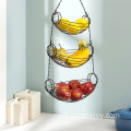 3-Tier Hanging Fruit Baskets Large Vegetable Storage Baskets Kitchen Living Room Fruit Basket