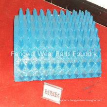 High Manganese Double Toothed Roller Crusher Cogged Crusher Wear Part