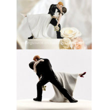 High Quality a Romantic DIP Dancing Bride and Groom Couple Figurine for Cake Topper