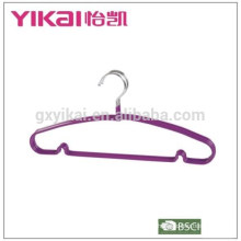 Colorful PVC coated metal shirt hanger in laundry made in China