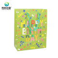 Colorful Art Paper Birthday Gift Packaging Bag for Christmas Wedding
