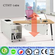 CTHT-1404 бамбуковый столик топ ручной винт регулируемый по высоте стол регулируемый по высоте стол для ноутбука компьютерная мебель